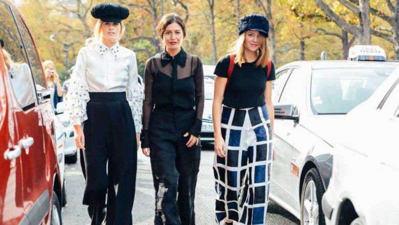 Как сочетать широкие брюки и блузы  последние тенденции в мире моды 1b994372036