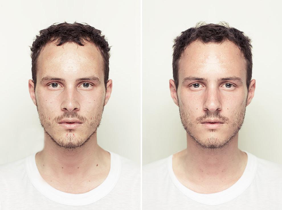 фотосессия симметричные лица для