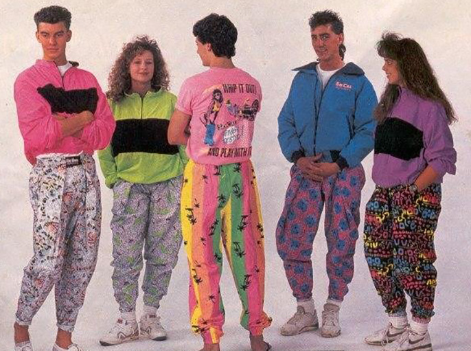 fashion in 80s and 50s
