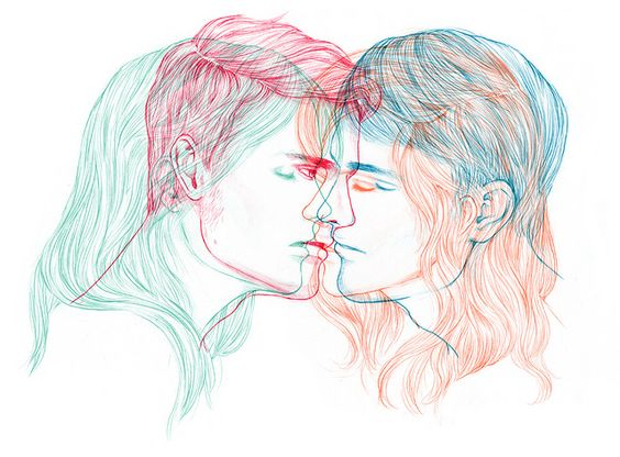green and red and orange and blue - who is kissing who? #gaypride